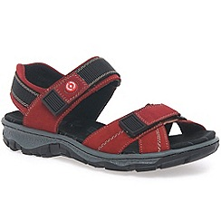 Rieker - Red 'View' womens sandals