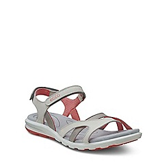 Ecco - Pale grey 'Cruise' Womens Casual Sandals