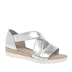 Gabor - Silver 'Promise' Womens Sandals