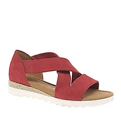 Gabor - Red 'Promise' womens sandals
