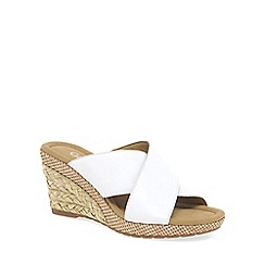 Gabor - White 'Purpose' Womens Modern Sandals