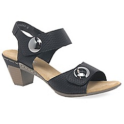 Rieker - Black 'Sahara' Womens Casual Sandals