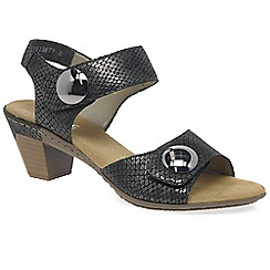 Rieker - Dark grey 'sahara' womens casual sandals