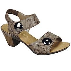 Rieker - Natural 'sahara' womens casual sandals