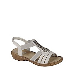 Rieker - Cream 'Nissi' Womens Casual Sandals