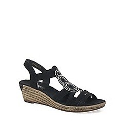 Rieker - Black 'Trio' Womens Casual Sandals