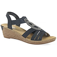 Rieker - Navy 'trio' womens casual sandals