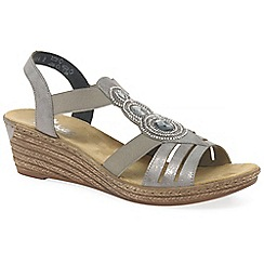 Rieker - Grey 'trio' womens casual sandals