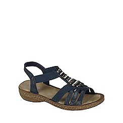 Rieker - Navy 'Bead' Womens Casual Sandals