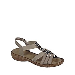 Rieker - Beige 'Bead' Womens Casual Sandals