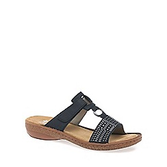 Rieker - Navy 'Queens' Womens Casual Mules