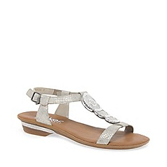 Rieker - Silver 'Mussura' Womens Casual Sandals