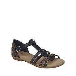 Rieker - Near black 'T Strap' Womens Casual Sandals
