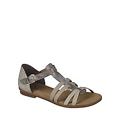 Rieker - Grey 'T Strap' Womens Casual Sandals