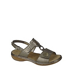 Rieker - Metallic 'Rhodes' Womens Casual Sandals