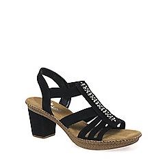 Rieker - Black 'Monaco' Womens Casual Sandals