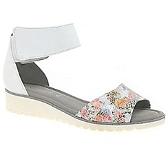 Gabor - Multi Coloured leather 'Penny' flat sandals