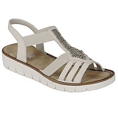 Rieker - White 'Bianco' Womens Casual Sandals