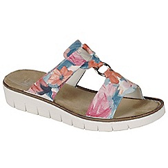 Rieker - Multi Coloured 'Tulip' Womens Casual Mules