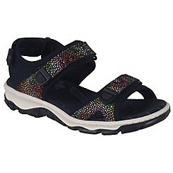Rieker - Near black 'Flowerbed' Womens Casual Sandals
