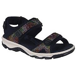 Rieker - Near black 'Flowerbed' Womens Casual Sandals
