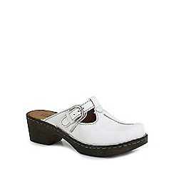 Josef Seibel - White 'Rebecca 11' Womens Clog Sandals