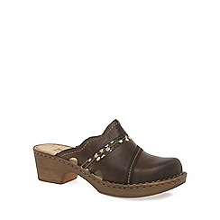 Josef Seibel - Brown 'Rebecca 15' Womens Leather Clogs