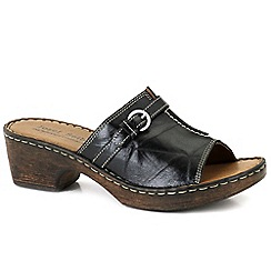 Josef Seibel - Black 'Rebecca 21 Slide' Womens Clog Sandals