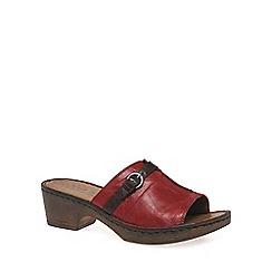 Josef Seibel - Red 'Rebecca 21 Slide' Womens Clog Sandals