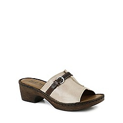 Josef Seibel - Beige 'Rebecca 21 Slide' Womens Clog Sandals