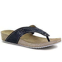 Josef Seibel - Dark blue 'Angie 11' Womens Toe Post Sandals