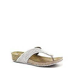 Josef Seibel - White 'Angie 11' Womens Toe Post Sandals