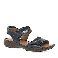Josef Seibel - Dark blue 'Debra 19' Womens Leather Sandals