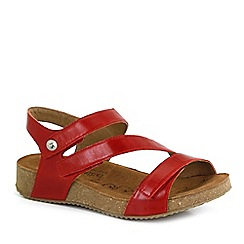 Josef Seibel - Orange 'Tonga 25' Womens Leather Sandals