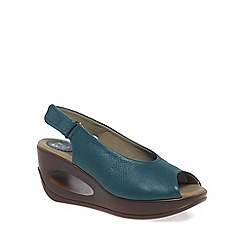 Fly London - Dark green 'Hatt' Womens Casual Sandals