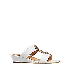 Van Dal - White 'Epsom' Womens Dress Mules