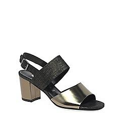 Gabor - Silver 'Obelisk' Modern Womens Sandals