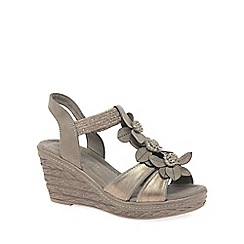 Marco Tozzi - Taupe 'Lutu' Womens Wedge Heel Sandals
