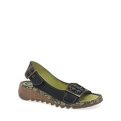 Fly London - Black 'Tori' wedge sandals