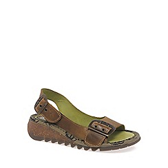 Fly London - Camel 'Tori' wedge sandals