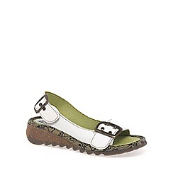 Fly London - Off white 'Tori' wedge sandals