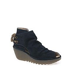 Fly London - Dark blue 'Yema' Womens Suede Boots
