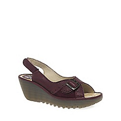 Fly London - Maroon 'Yaga' Womens Casual Sandals