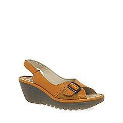 Fly London - Mustard 'Yaga' Womens Casual Sandals