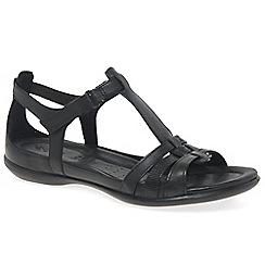 Ecco - Black 'Flash II' womens leather sandals