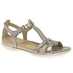 Ecco - Metallic 'Flash II' womens leather sandals