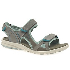 Ecco - Grey nubuck 'Cruise sport' womens casual sandals