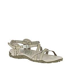 Merrell - Taupe nubuck 'Terran Lattice II' sporty sandals