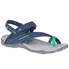 Merrell - Navy nubuck 'Terran convertible ii' sandals