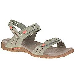 Merrell - Beige nubuck 'Terran Strap II' sporty sandals